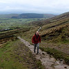 Nigel  hiking up Pendle Hill