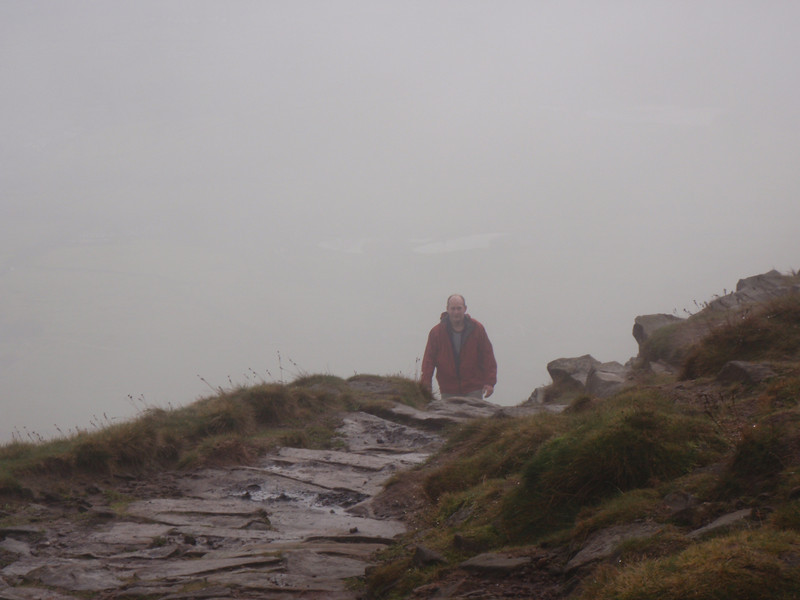 More fog.. at the top of Pendle Hill steps