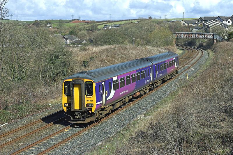 156451 Dalton-in-Furness 1/4/2010<br /> 2C39 1332 Lancaster-Barrow in Furness
