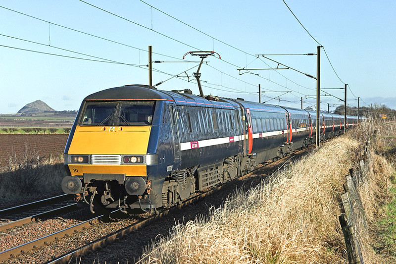 91110 Drem 2/2/2010<br /> 1S09 0900 London Kings Cross-Glasgow Central