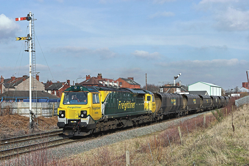 70006 Monks Sidings 2/3/2010<br /> 6F02 1207 Ellesmere Port-Fiddlers Ferry PS