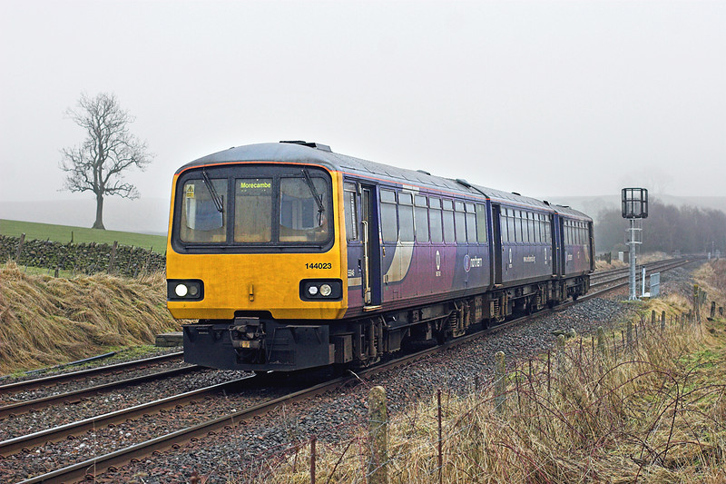 144023 Hellifield 6/2/2010<br /> 2H90 1349 Leeds-Morecambe