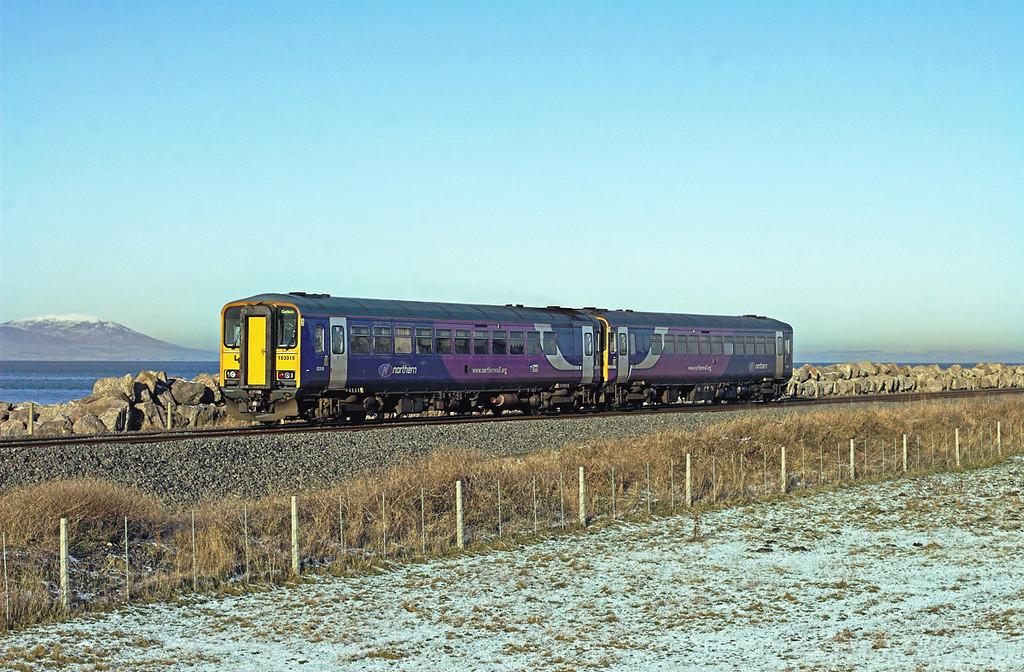 153315 and 153332, Siddick 8/1/2010<br /> 2C47 1119 Barrow in Furness-Carlisle