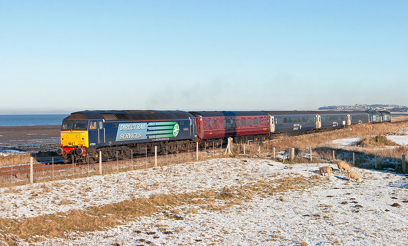 47501, 57008 and 57012, St Helens 8/1/2010<br /> 2Z27 1145 Maryport-Workington