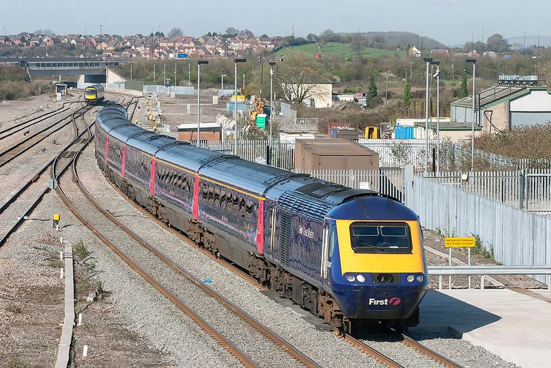 43041 and 43010, Severn Tunnel Junction 8/4/2010<br /> 1L42 0828 Swansea-London Paddington