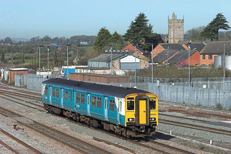 150254 Severn Tunnel Junction 8/4/2010<br /> 2G54 0800 Maesteg-Cheltenham Spa