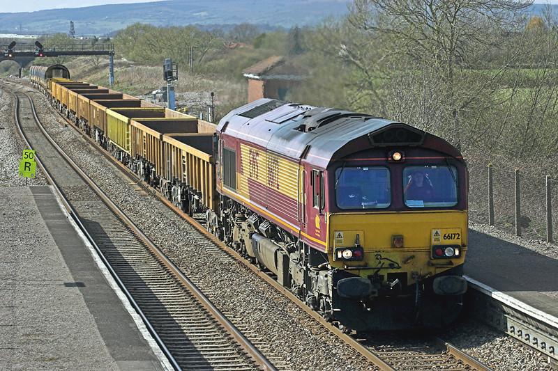 66172 Pilning 8/4/2010<br /> 6C41 1514 Alexandra Dock Junction-Westbury Yard