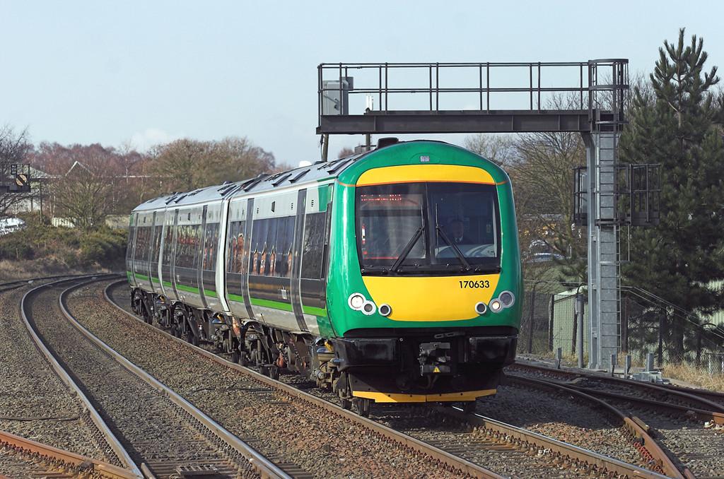 170633 Cosford 9/3/2010<br /> 1G23 1047 Shrewsbury-Birmingham New Street