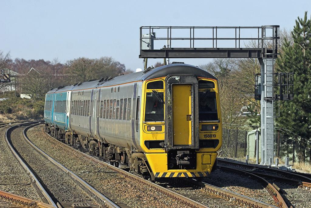 158819 and 158821, Cosford 9/3/2010<br /> 1G20 0715 Holyhead-Birmingham International