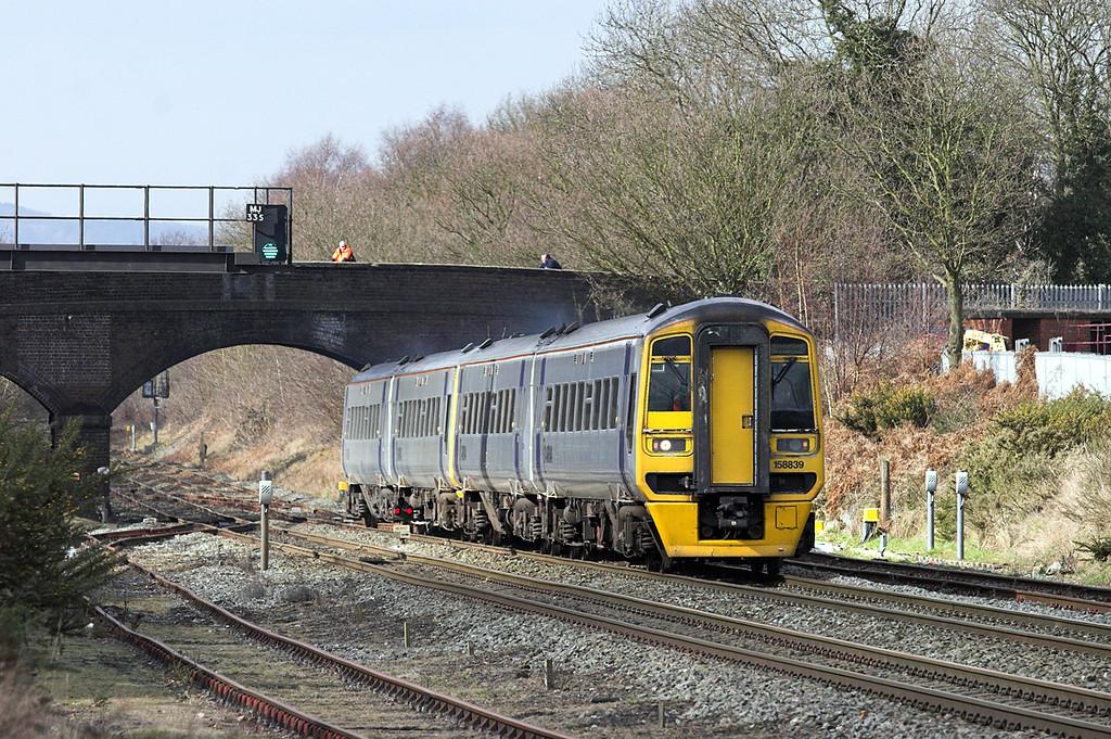 158839 and 158831, Cosford 9/3/2010<br /> 1G25 0930 Aberystwyth-Birmingham International