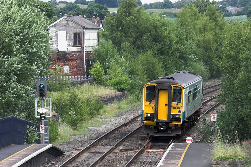 153327 Whitchurch 9/7/2010<br /> 2J16 1126 Crewe-Shrewsbury