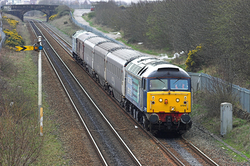 57012 and 47501, Workington North 15/4/2010<br /> 2T11 1220 Workington-Maryport