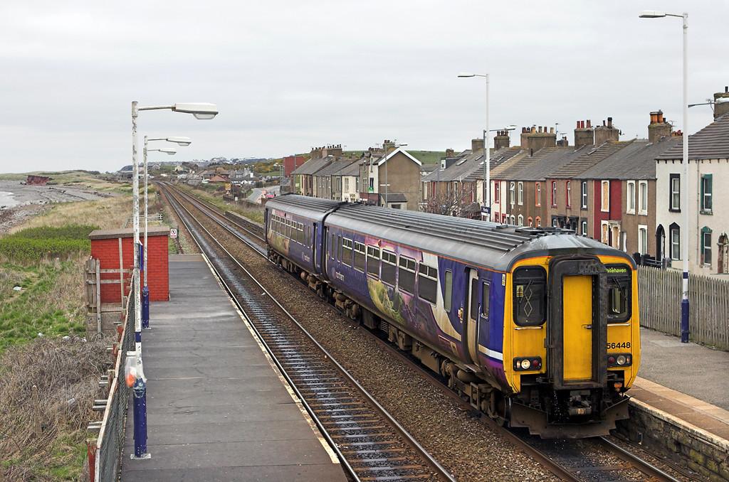 156448 Flimby 15/4/2010<br /> 2C44 1043 Carlisle-Barrow in Furness