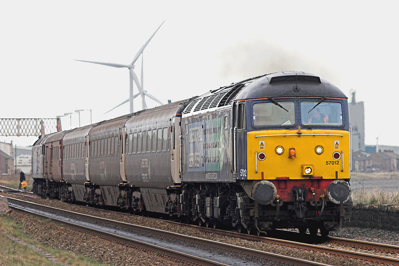 57012 and 47501, Flimby 15/4/2010<br /> 2T07 1030 Workington-Maryport