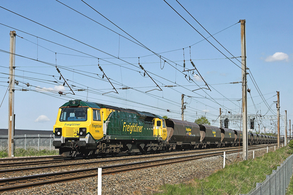 70006 Farington 18/5/2010<br /> 6Z63 0218 Chalmerston-Fiddlers Ferry PS
