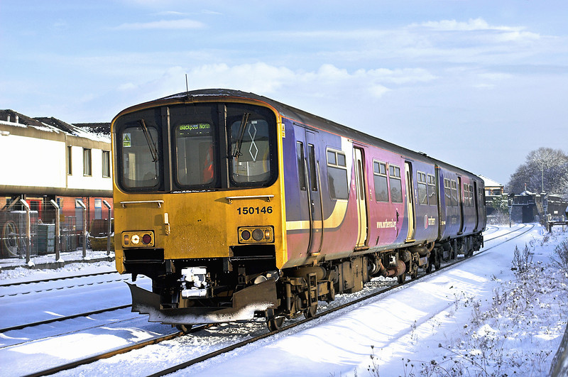 150146 Kirkham and Wesham 18/12/2010<br /> 1B28 1109 York-Blackpool North
