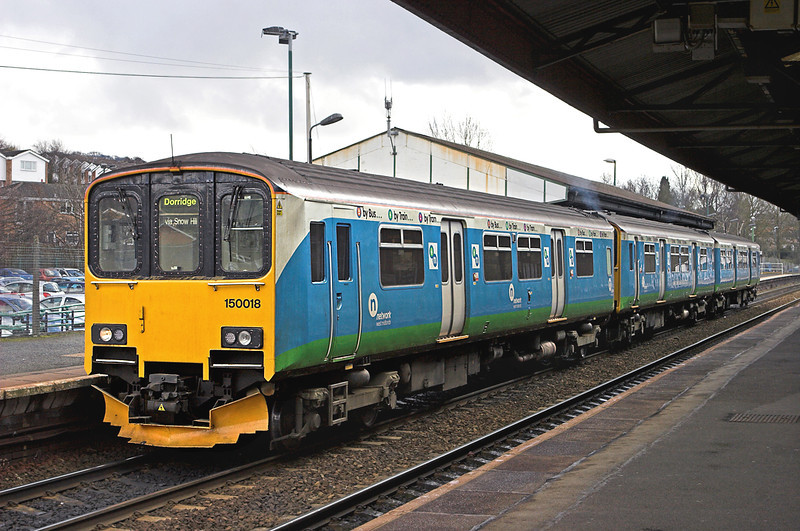 150018 Stourbridge Junction 20/2/2010<br /> 2C40 1325 Stourbridge Junction-Dorridge