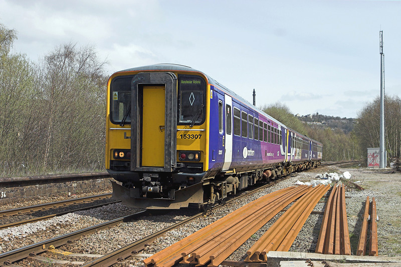 153307 and 155341, Sowerby Bridge 20/4/2010<br /> 2M30 1237 Leeds-Manchester Victoria