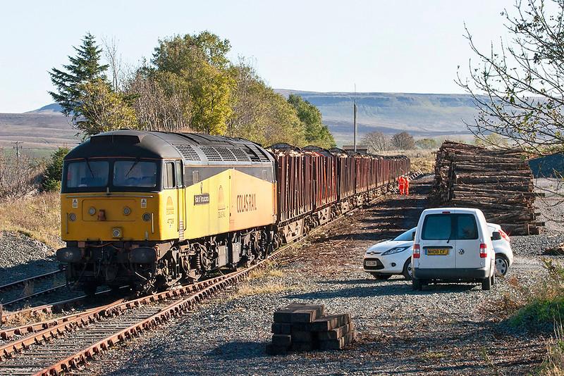 47739 Ribblehead 20/10/2010<br /> 6Z41 1410 Ribblehead Quarry-Chirk
