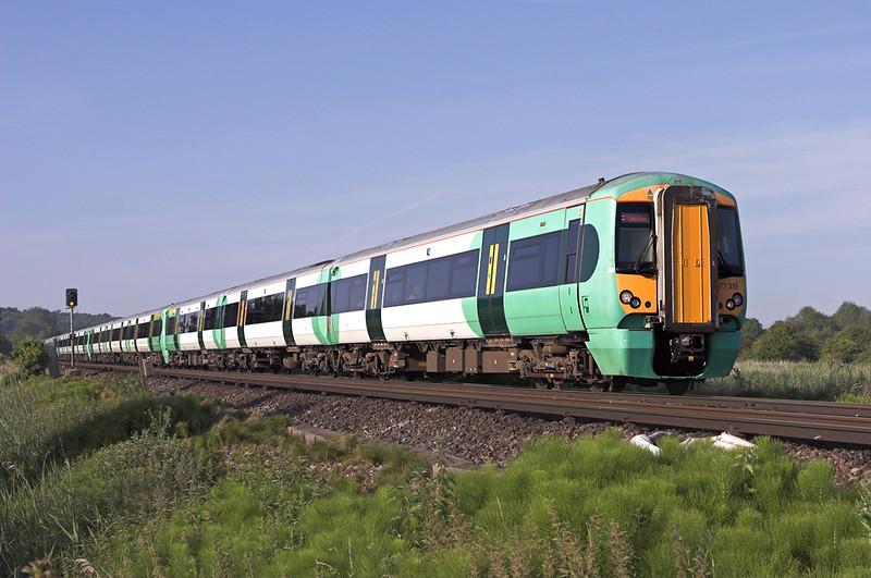 377319, 377301, 377310 and 377328, Warningcamp 22/6/2010<br /> 1C90 0657 Bognor Regis-London Victoria