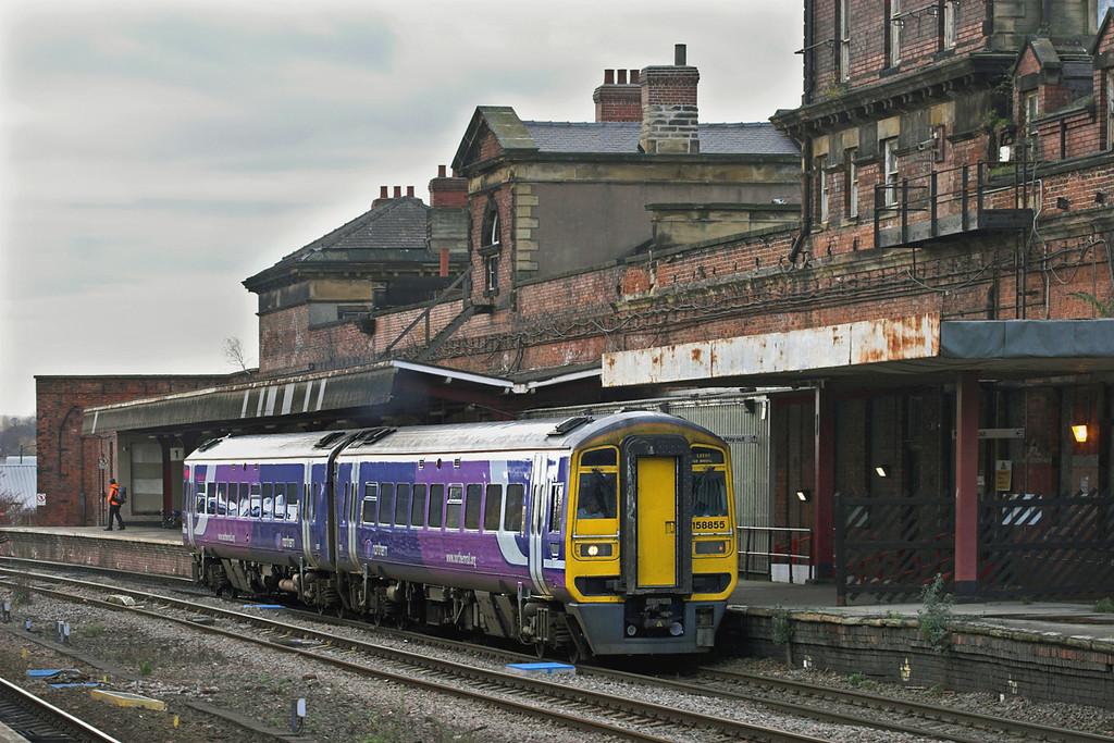 158855 Wakefield Kirkgate 23/11/2010<br /> 1L80 1051 Sheffield-Leeds