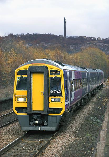 158758 Sowerby Bridge 23/11/2010<br /> 2M34 1337 Leeds-Manchester Victoria