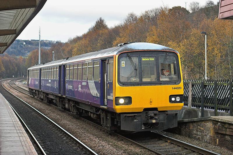 144020 Sowerby Bridge 23/11/2010<br /> 2U18 1413 Leeds-Manchester Victoria