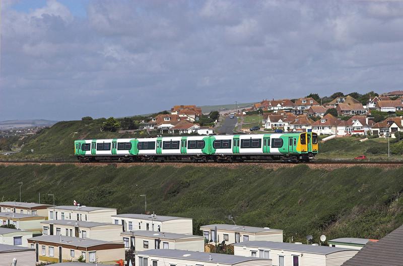313204 Bishopstone 24/8/2010<br /> 2F61 1210 Brighton-Seaford