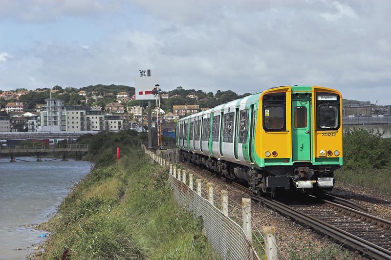 313212 Newhaven 24/8/2010<br /> 2F57 1110 Brighton-Seaford