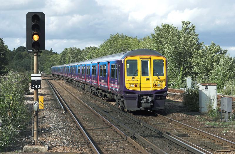 319367 and 319366, Haywards Heath 24/8/2010<br /> 1T41 1440 Bedford-Brighton