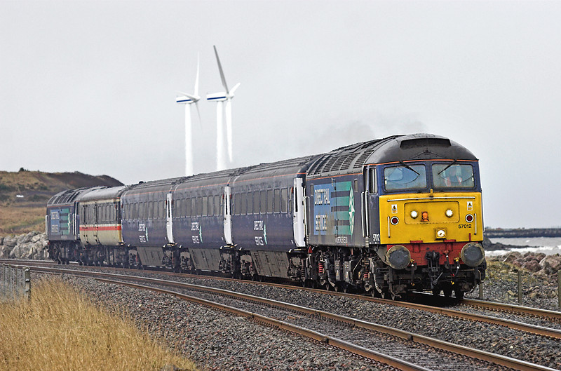 57012 and 47790, Siddick 29/1/2010<br /> 2T28 1220 Workington-Maryport