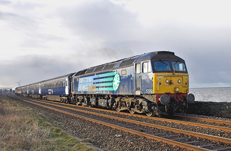 57012 and 47790, Flimby 29/1/2010<br /> 2T24 1030 Workington-Maryport