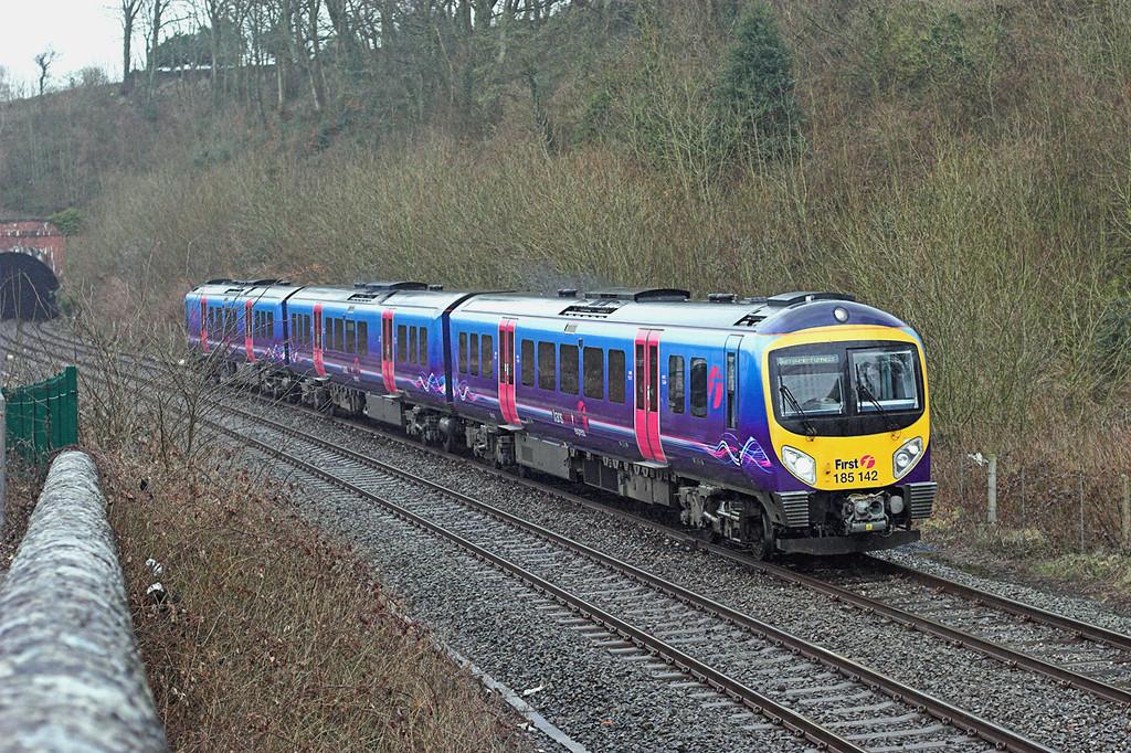 185142 Dalton Junction 29/3/2010<br /> 1C50 0720 Preston-Barrow in Furness
