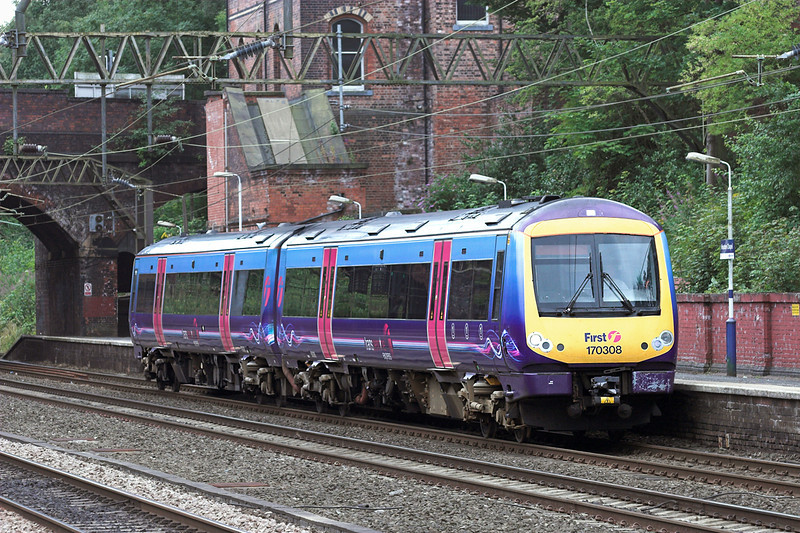 170308 Heaton Chapel 29/7/2010<br /> 1B73 0928 Cleethorpes-Manchester Airport