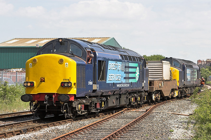 37059 and 37667, Morecambe 30/6/2010<br /> 6C51 1258 Sellafield-Heysham PS