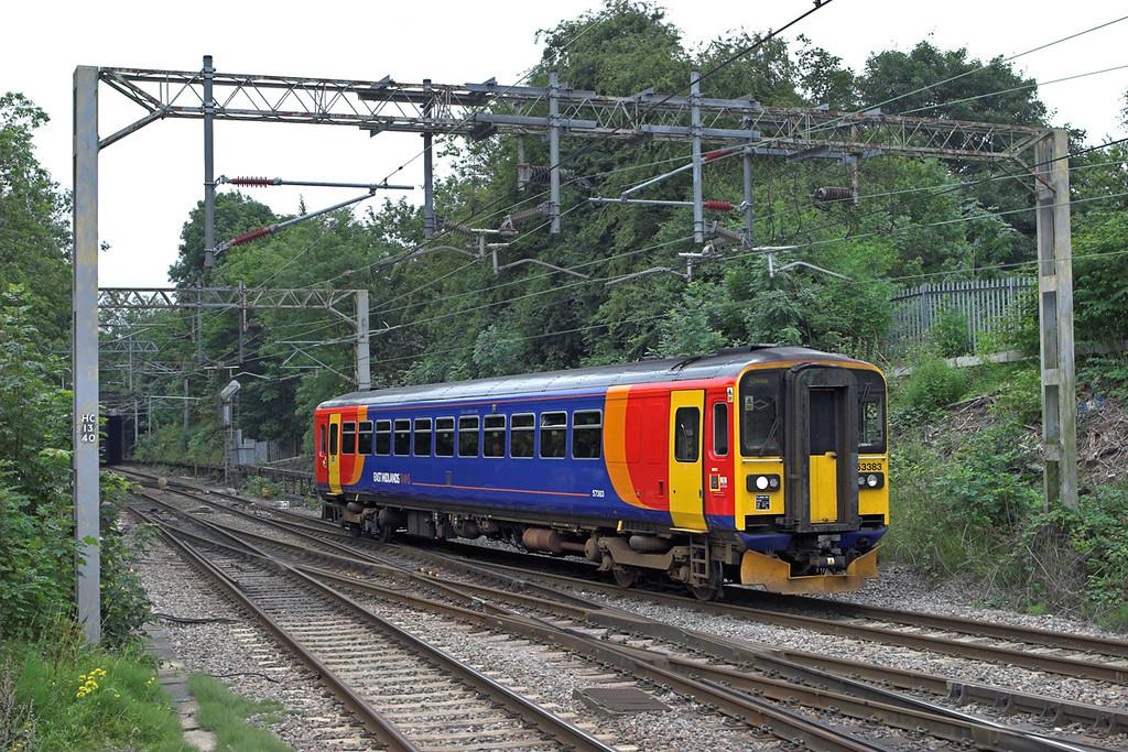 153383 Kidsgrove 30/7/2010<br /> 1K05 0840 Derby-Crewe