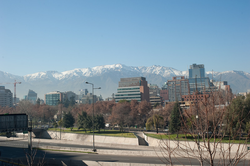 A view of the nearby Andes from the hotel.