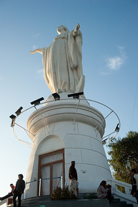 Statue of Virgen de la Inmaculada Concepcion at the outdoor church.