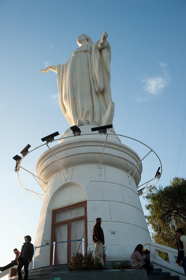 Statue of Virgen de la Inmaculada Concepcion at the outdoor church.