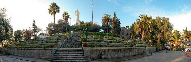 The outdoor church in Parque Metropolitano at the top of Cerro San Cristobal.