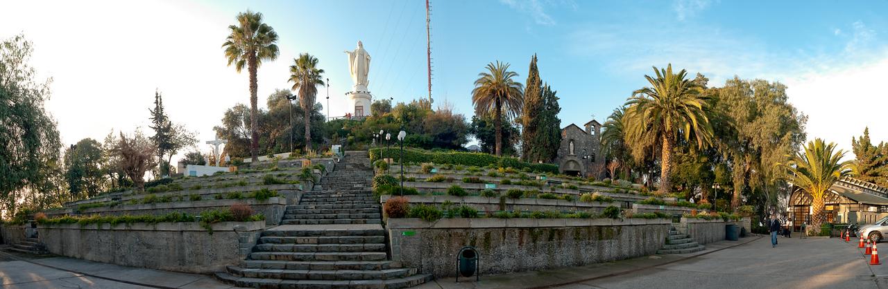 The outdoor church in Parque Metropolitano at the top of Cerro San Cristobal.