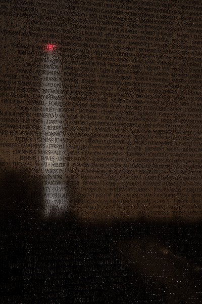 Reflection in the Rain I<br /> <br /> Washington Memorial reflected at Vietnam Veterans Memorial