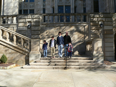 On the steps of the Cathedral of Learning.