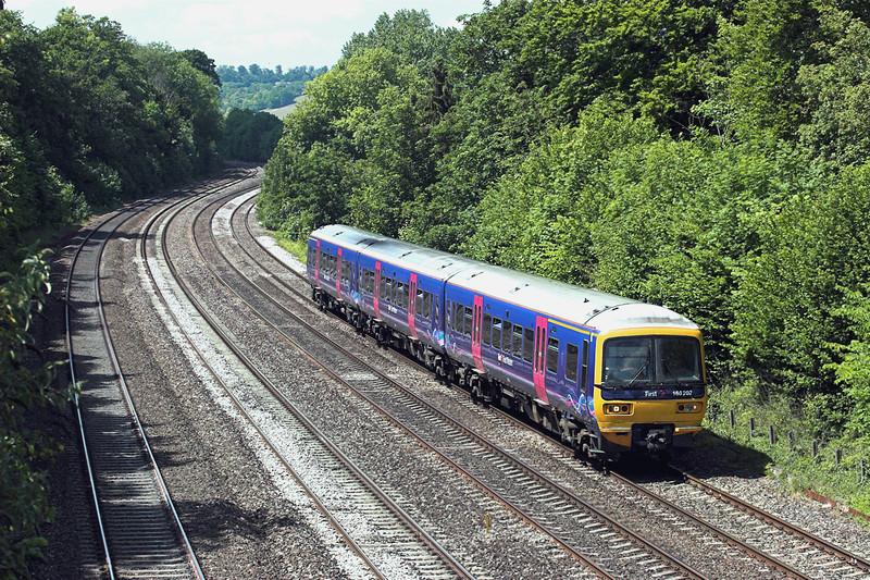 166202 Tilehurst 3/6/2011<br /> 2P54 1307 Oxford-London Paddington
