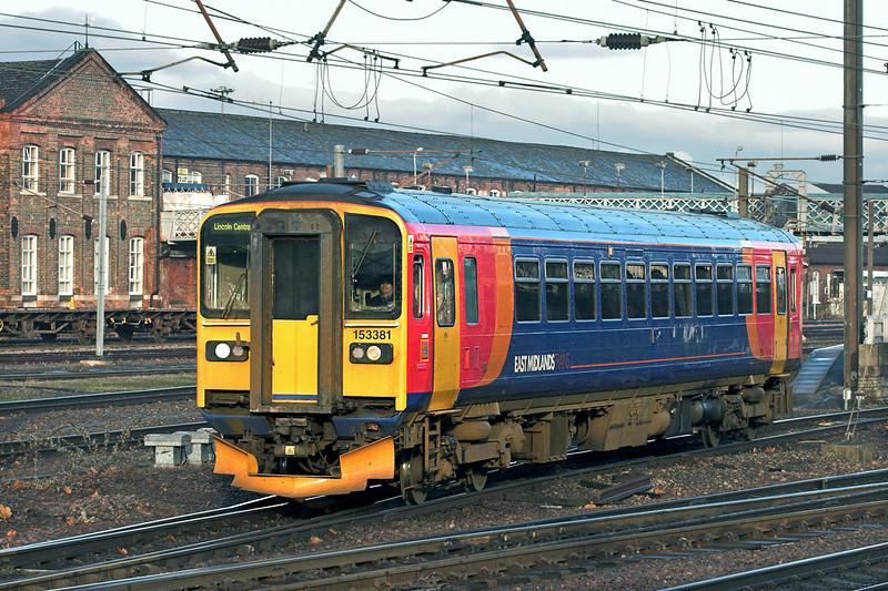 153381 Doncaster 6/1/2011<br /> 2K25 1026 Doncaster-Lincoln Central