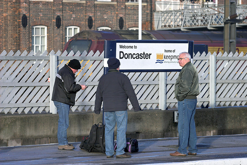 Train Spotters at Doncaster, 6/1/2011
