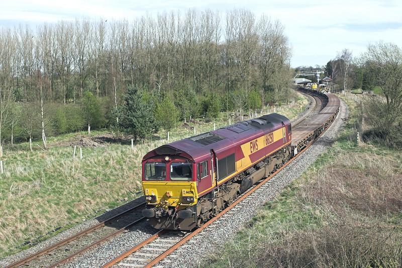 66250 Gisburn 6/4/2011<br /> 6K05 1218 Carlisle Yard-Basford Hall