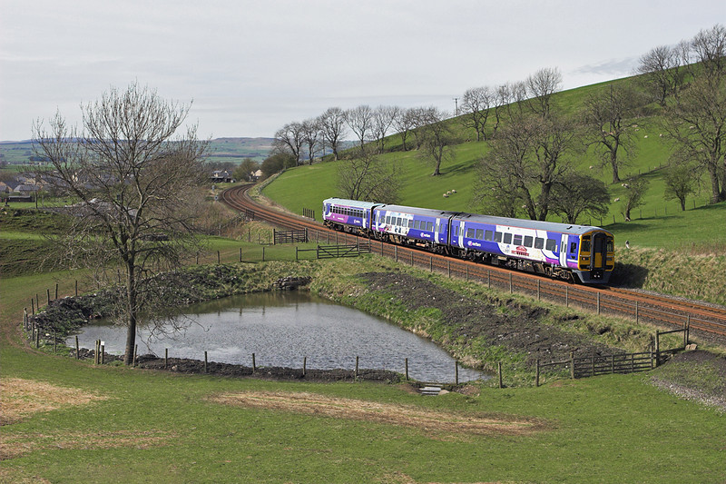 158903 and 153378, Hellifield 6/4/2011<br /> 2H89 1151 Carlisle-Leeds