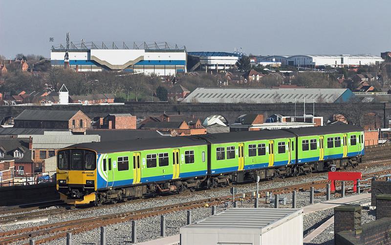 150007 Birmingham Moor Street 7/3/2011<br /> 2J55 1427 Stratford upon Avon-Stourbridge Junction