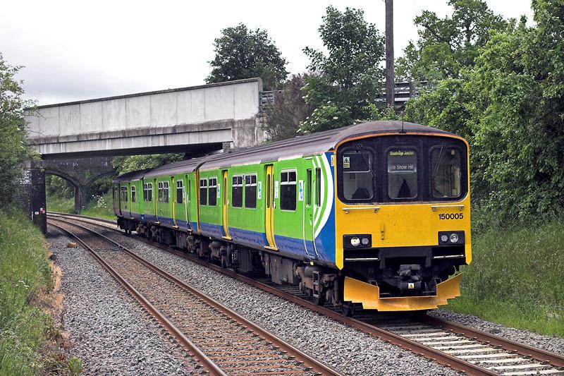 150005 Danzey 7/6/2011<br /> 2J37 1127 Stratford upon Avon-Stourbridge Junction